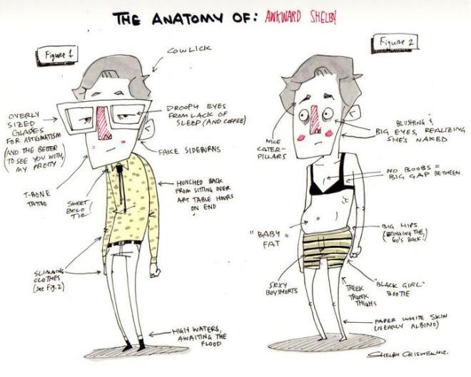 awkward anatony